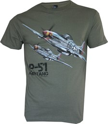 Picture of P-51 Mustang T-Shirt grün