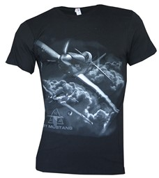 Picture of North American Aviation P-51 Mustang T-Shirt schwarz