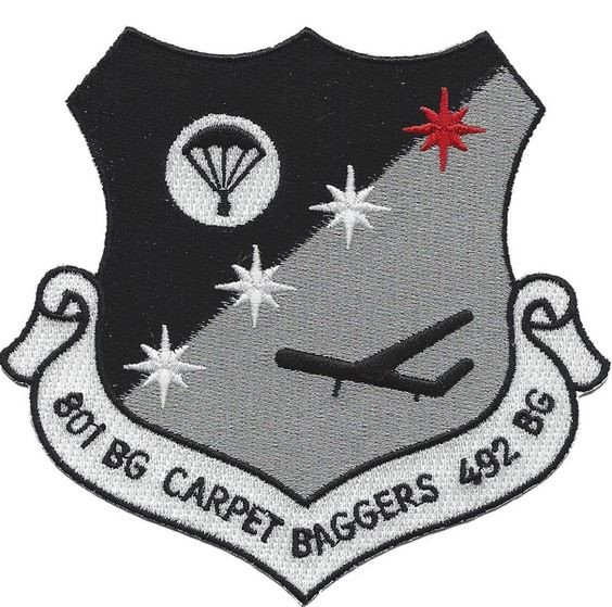 "Bild von 801st & 492nd Bomb Group Abzeichen US Air Force ""Carpet Baggers"" WWII"