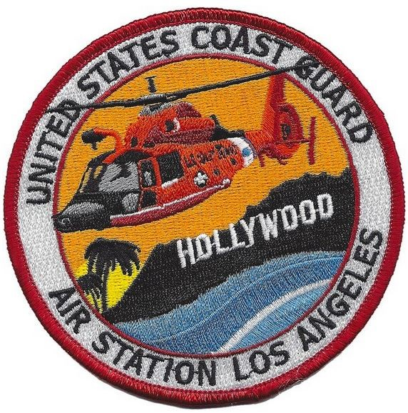 Photo de United States Coast Guard Air Station Los Angeles Hollywood Abzeichen Patch