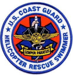 Photo de Coast Guard Helicopter Rescue Swimmer Patch Abzeichen