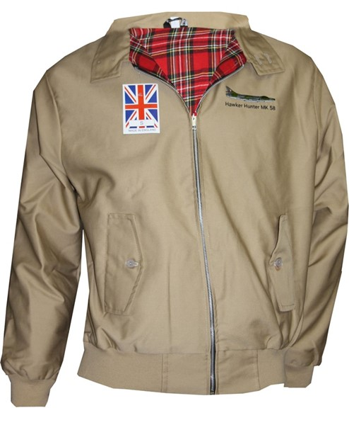 Picture of Hawker Hunter Classic Harrington Jacke beige