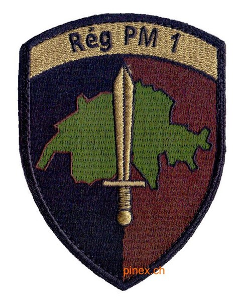 Picture of Rég PM 1 mit Klett Mil Pol Badge