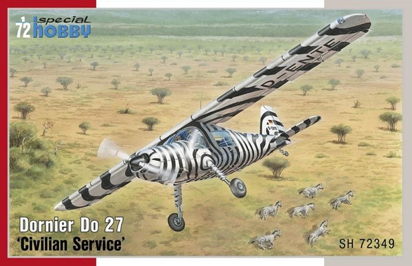 Photo de Dornier Do 27 Zivil mit 3 Decals Modellbausatz 1:72