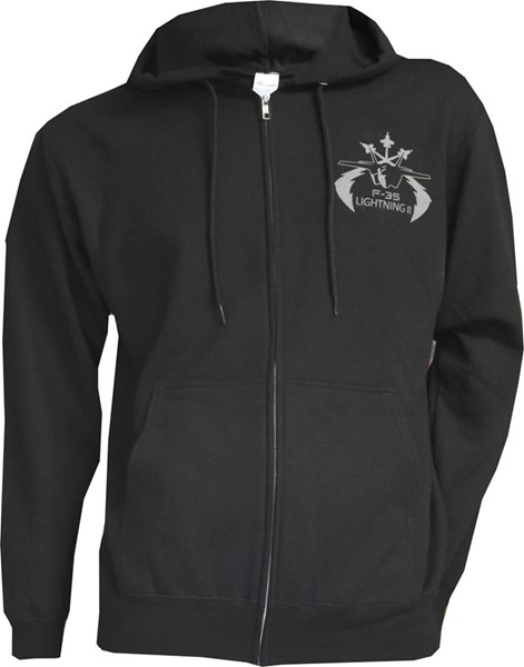 Photo de F-35 Lightning Zip Pullover schwarz
