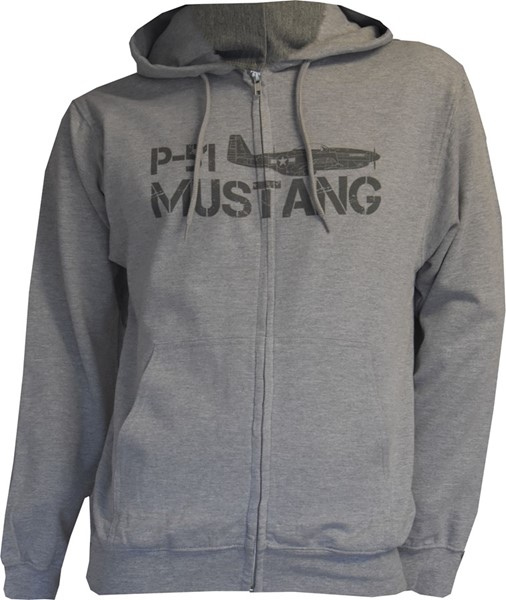 Photo de Mustang P-51 Zip Pullover grau