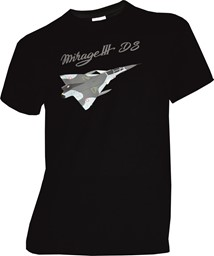 Picture of Mirage III DS Flugzeug T-Shirt schwarz