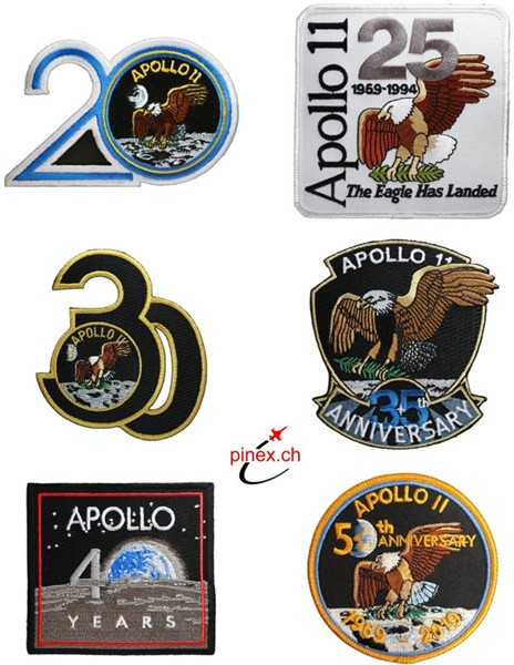 Photo de Apollo 11 Jubiläums Abzeichen Patch SET