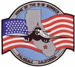Photo de Home of the B1B Bomber Palmdale Californie LARGE Patch