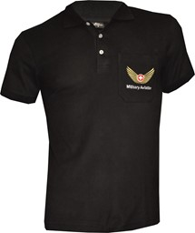 Picture of Polo Shirt, Military Aviation schwarz