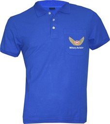 Picture of Polo Shirt, Military Aviation blau