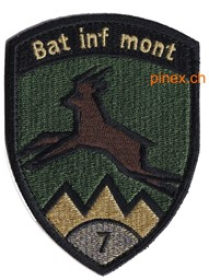 Photo de Bat Inf mont 7 gold mit Klett Infanteriebadge