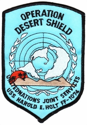 Photo de Operation Desert Shield Abzeichen blau