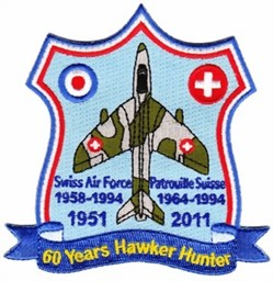 Picture of Hawker Hunter Jubi Aufnäher 1951-2011