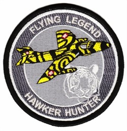 Picture of Hawker Hunter with Tiger stripes Insignia Patch