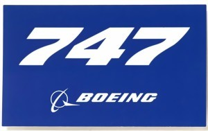 Photo de Boeing 747 Sticker blau mit Logo
