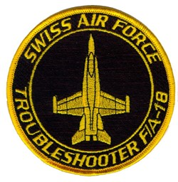 Picture of F/A-18 Hornet Swiss Ait Force Troubleshooter Patch