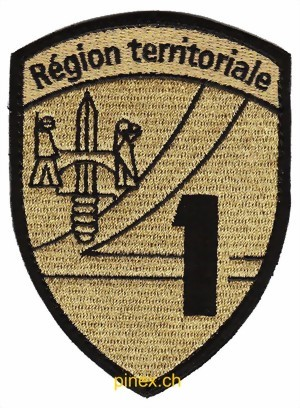 Photo de Badge Région Territoriale 1 avec Velcro