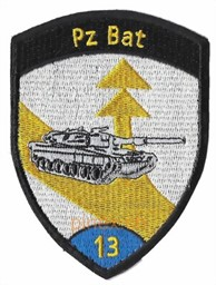 Photo de Pz Bat 13 Panzerbataillon 13 blau ohne Klett