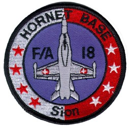 Picture of FA-18 Hornet Base Sion Stoffabzeichen