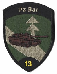 Photo de Pz Bat 13 Panzer Bataillon 13 schwarz mit Klett