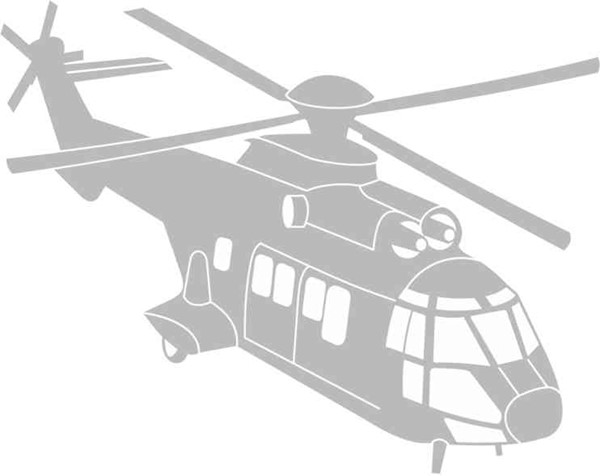 Photo de Super Puma Autoaufkleber
