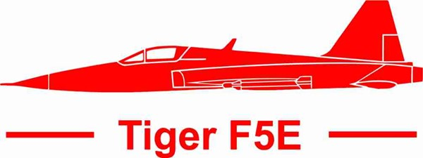 Photo de Tiger F5E mit Schrift Standard Links