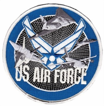 Photo de US Air Force Logo  rund 100mm