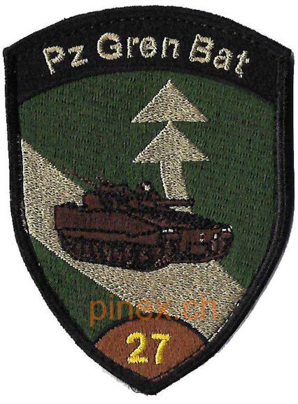 Photo de Badge Panzer Grenadier Bat 27 braun mit Klett