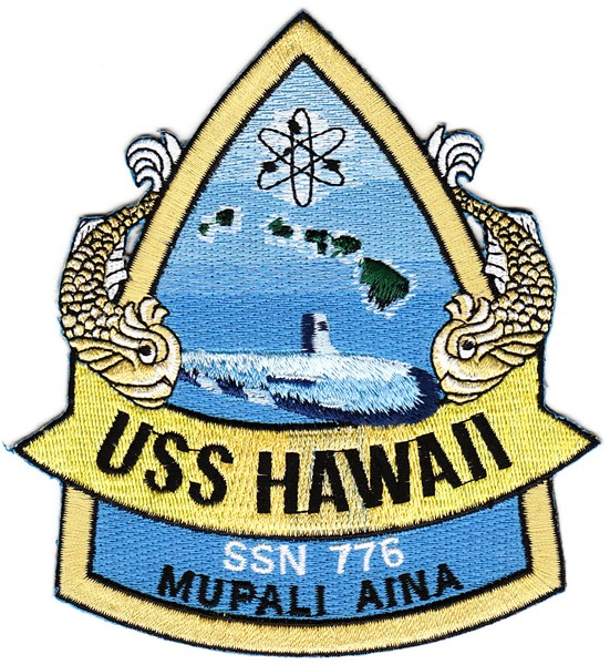 Photo de USS Hawaii SSN 776 U-Boot Aufnäher MUPALI AINA