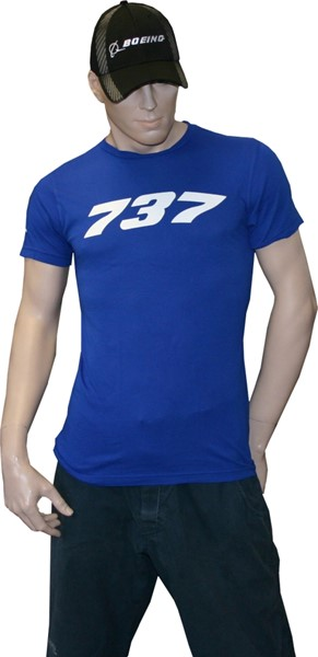 Picture of Boeing 737 T-Shirt blau
