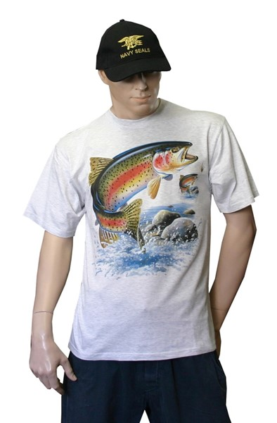 Photo de Fischer T-Shirt Regenbogenforelle