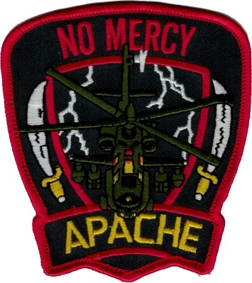 "Photo de Apache Helikopter Abzeichen ""No Mercy"""