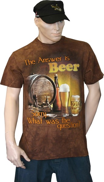 Picture of Beer Fun T-Shirt, The answer is Beer