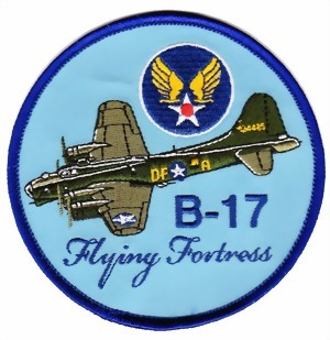 Photo de B-17 Bomber Flying Fortress  US Air Force Abzeichen blau