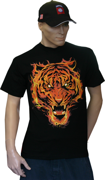 Picture of Flaming Tiger Shirt