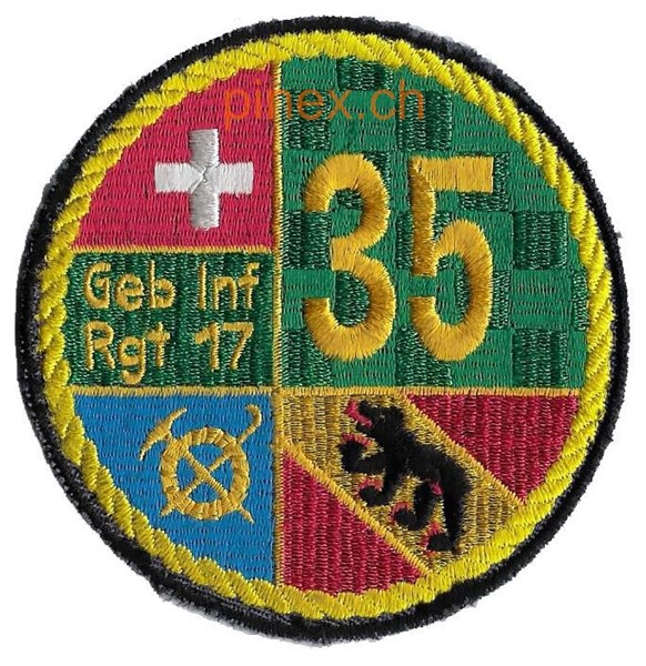 Picture of Füs Bat 35 gelb Armeebadge