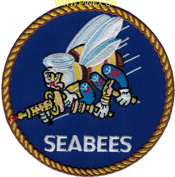 Bild von US Navy Seabees Patch (Naval Construction Battalion)