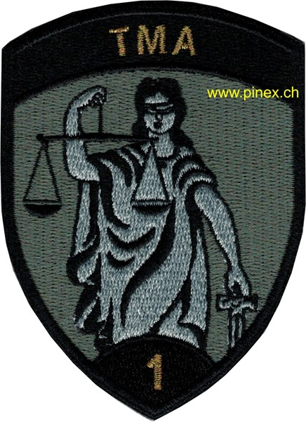 Photo de TMA 1 schwarz Armee 21 Badge ohne Klett