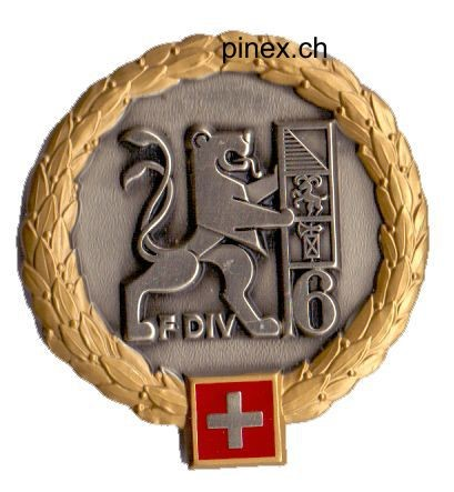 Picture of Felddivision 6 GOLD Emblem Schweizer Armee