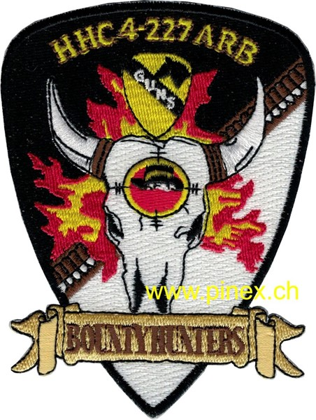 "Photo de 4th Squadron 227th Aviation Regiment Attack Recon Battalion Patch ""Bountyhunters"""