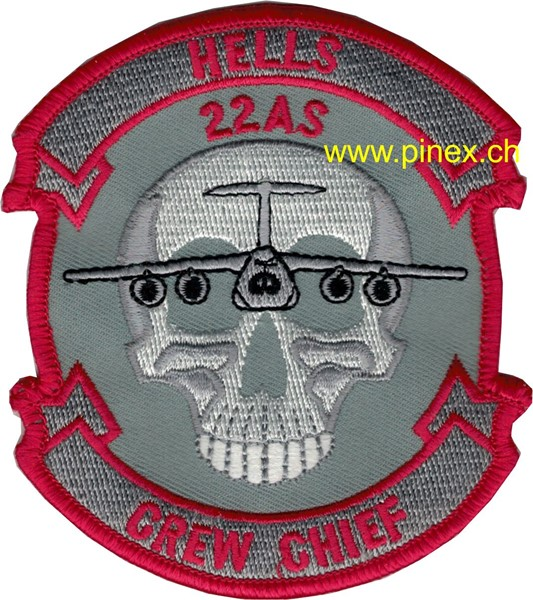 "Photo de 22nd Airlift Squadron Abzeichen ""Hells Crew Chief"""