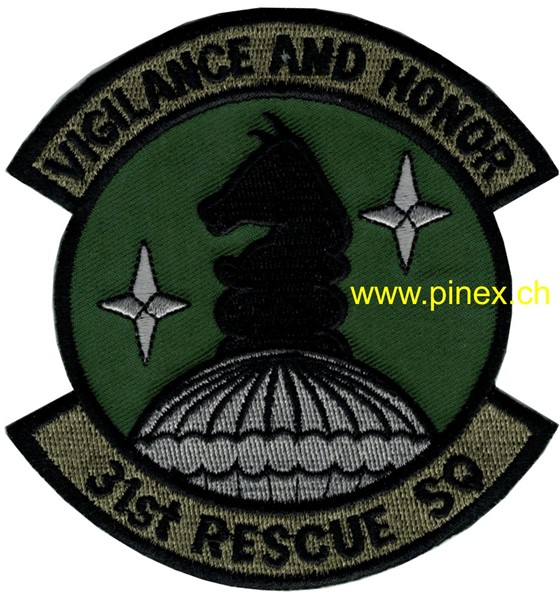 "Photo de 31st Rescue Squadron USAF Patch ""Vigilance and Honor"""