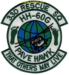 "Bild von 33d Rescue Squadron HH-60G Pave Hawk Abzeichen ""that others may live"""