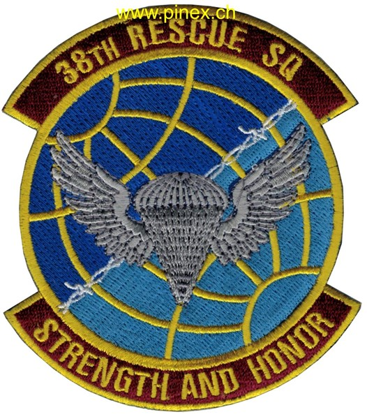 "Bild von 38th Rescue Squadron Abzeichen ""Strength and Honor"" US Air Force"